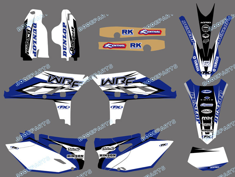For YAMAHA WR450F WRF450 WRF 450 Graphics Kit Decal Sticker 2012 2013 2014