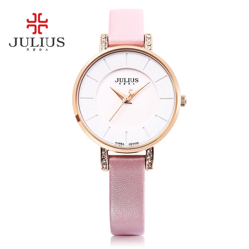3629e7d18f0 Mulheres Vestido Relógio Relógio de Quartzo Moda Casual Relógios Pulseira  de Couro Genuíno de Luxo Elegante Relógio de Pulso Relogio feminino Melhor  ...