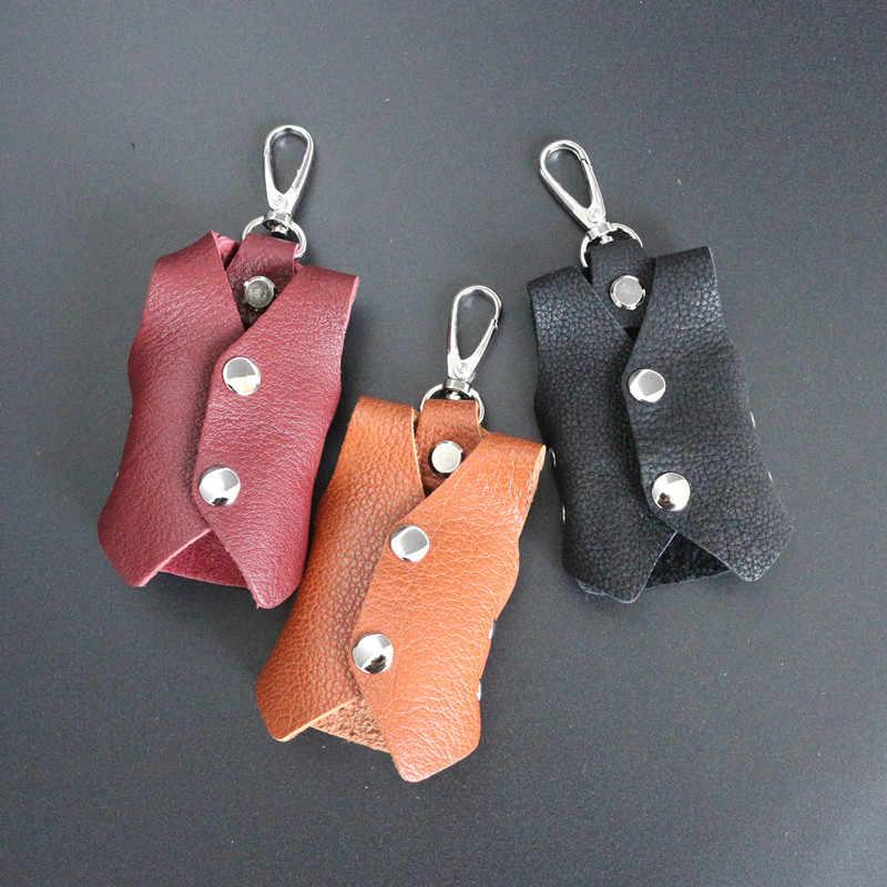 XZXBBAG prawdziwej skóry wołowej skóry 3D kamizelka ubrania etui na klucze kobiet brelok torba organizator mężczyźni klucz samochodowy gospodyni przypadku