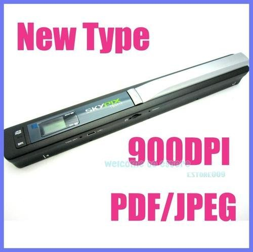 Free shipping!! Skypix Handheld Handy Portable A4 Document Photo Scanner 900 DPI