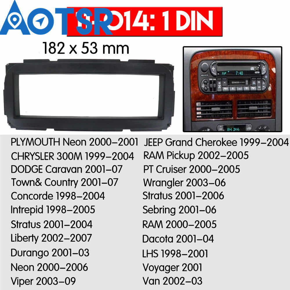 1 din Radio Fascia for CHRYSLER for DODGE for JEEP for