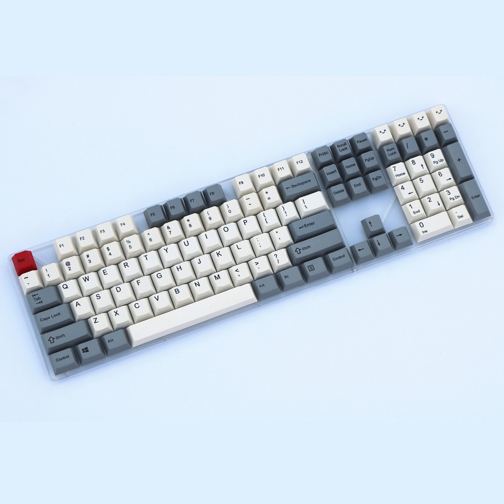 Beige gray 108 keys PBT ANSI layout Cherry Profile Dye-Sublimated MX Switch For Mechanical keyboard keycap Only sell keycaps цена 2017