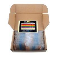 DIYmall 1 4W Metal Film Resistor Variable Kit Resistance 1 Precision 73 Values 1K 10K 220ohm