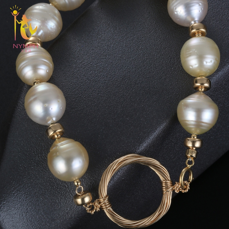 [NYMPH] pearl bracelets natural pearl jewelry baroque natural fresh water pearl bracelet for women S316 [nymph] pearl bracelets natural pearl jewelry baroque natural fresh water pearl bracelet for women s311