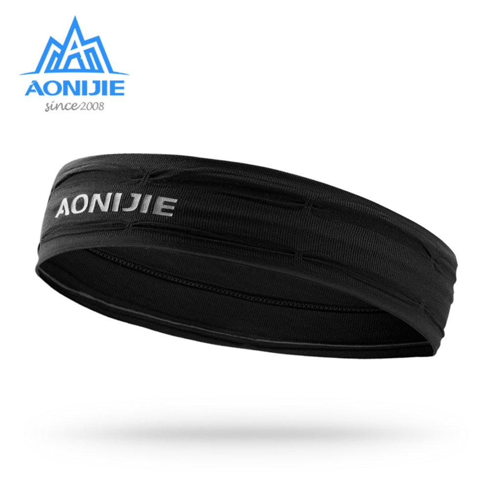 AONIJIE Workout Headband Non-slip Sweatband Wrist Band Soft Stretchy Bandana Running Crossfit Yoga Fitness Running E4086