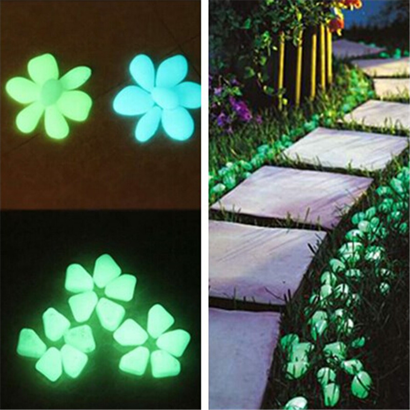 Wonderful 3pcs/lot Cheapest Beautiful Luminous Stone Night Light Decorations Garden  Fish Tank Ornaments Pebbles Stones
