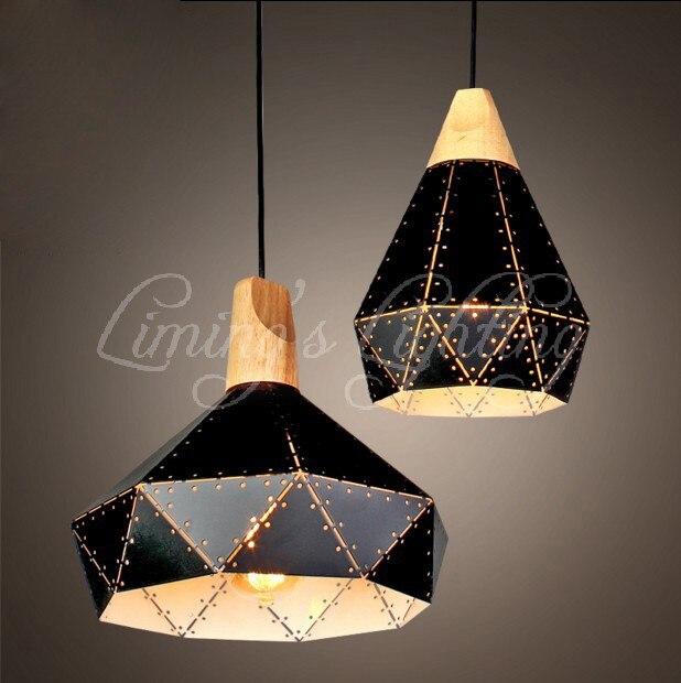 LOFT rétro industriel vent café restaurant bar à vin boutique personnalité nordique creux Art pendentif lumière lampe éclairage