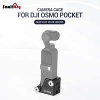 SmallRig Osmo Cage for DJI Osmo Pocket Features a 3/8 16 and nine 1/4 20 threaded holes for Camera Tripod Attachment CSD2321