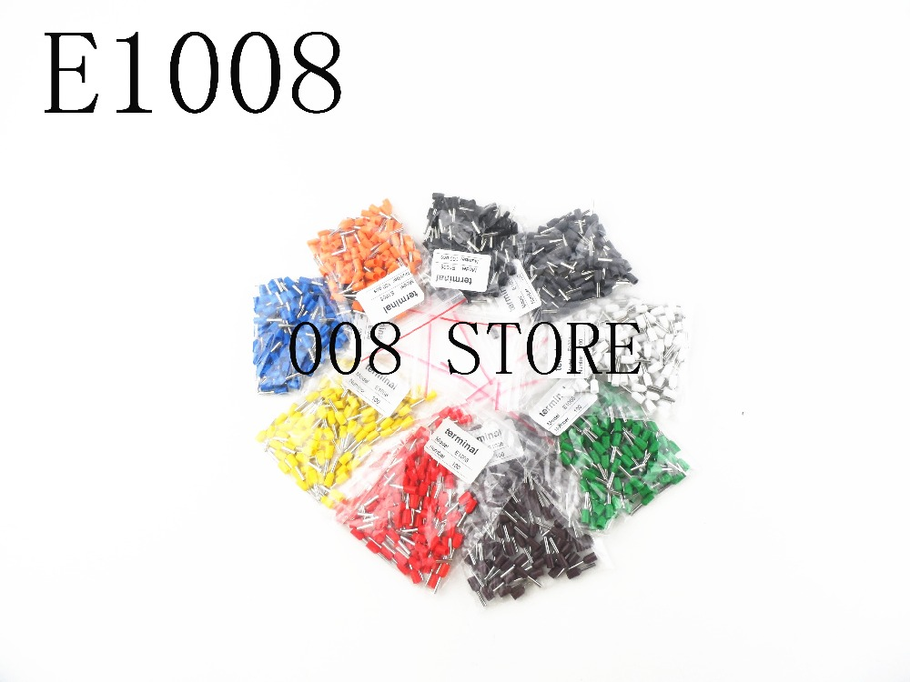 E1008 Tube insulating Insulated terminals 100PCS/Pack 1MM2 Cable Wire Connector Insulating Crimp Terminal Connector E- 1 pack 100