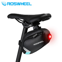 ROSWHEEL mtb bike bag rear saddle bicycle seat bag led light cycle cycling bag bycicle pannier bags accessories 2017New product