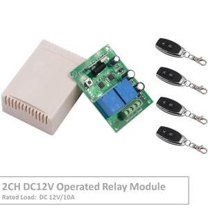 RF Interruptor de Controle Remoto DC 12 V 2 Gang Relé Receiver e 1527 Transmissor código de aprendizagem Para DIODO EMISSOR de Luz Elétrica dispositivo de Controle
