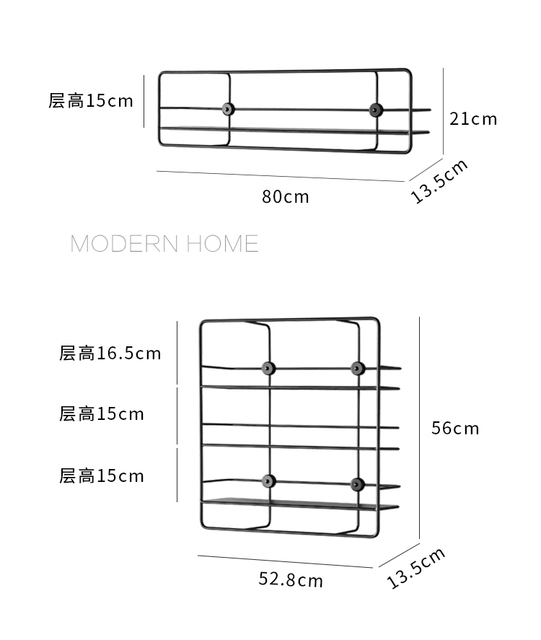 Wall Mounted Modern Classic Design fashion Loft Metal Steel Shelves Rack Storage Holders Coat Rack hook, display show shelf rack 5