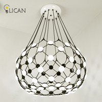 LICAN Roma Leaf Post Modern Chandeliers Lights Nordic Creative Personality Villa Restaurant Chandelier Fixture Lamp Home