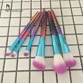 6pcs Unicorn Makeup Brushes Professional Make Up Brushes Synthetic Hair Brush Set Makeup Tools Eyebrow Eyeliner Powder Brushes