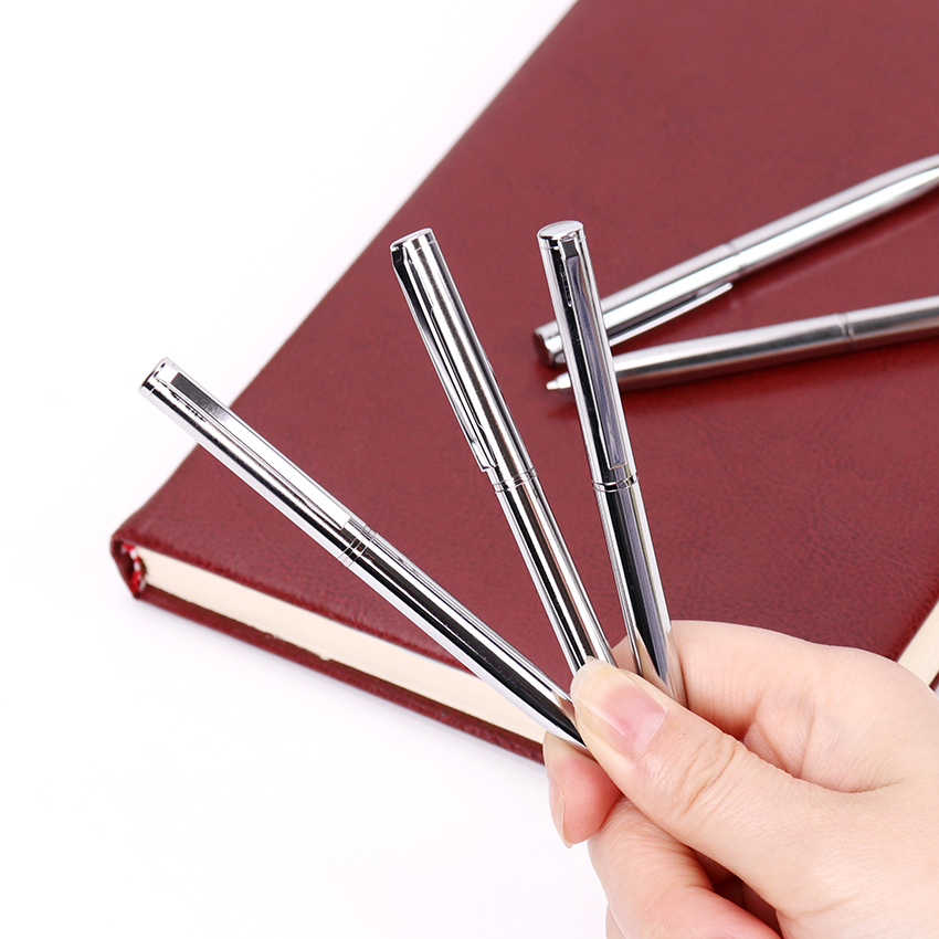 1PC Office Stationery Mini Metal Ballpoint Pen Rotating Pocket Size Signing Pen Small Oil Pen Exquisite Brief Office Supplies
