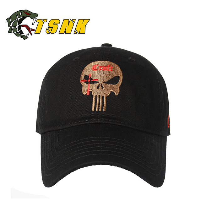 TSNK Cotton Tactical Baseball Caps SEAL Punisher American Sniper Army  Snapback Hat Baseball Cap Running Hat 16619819d3e0