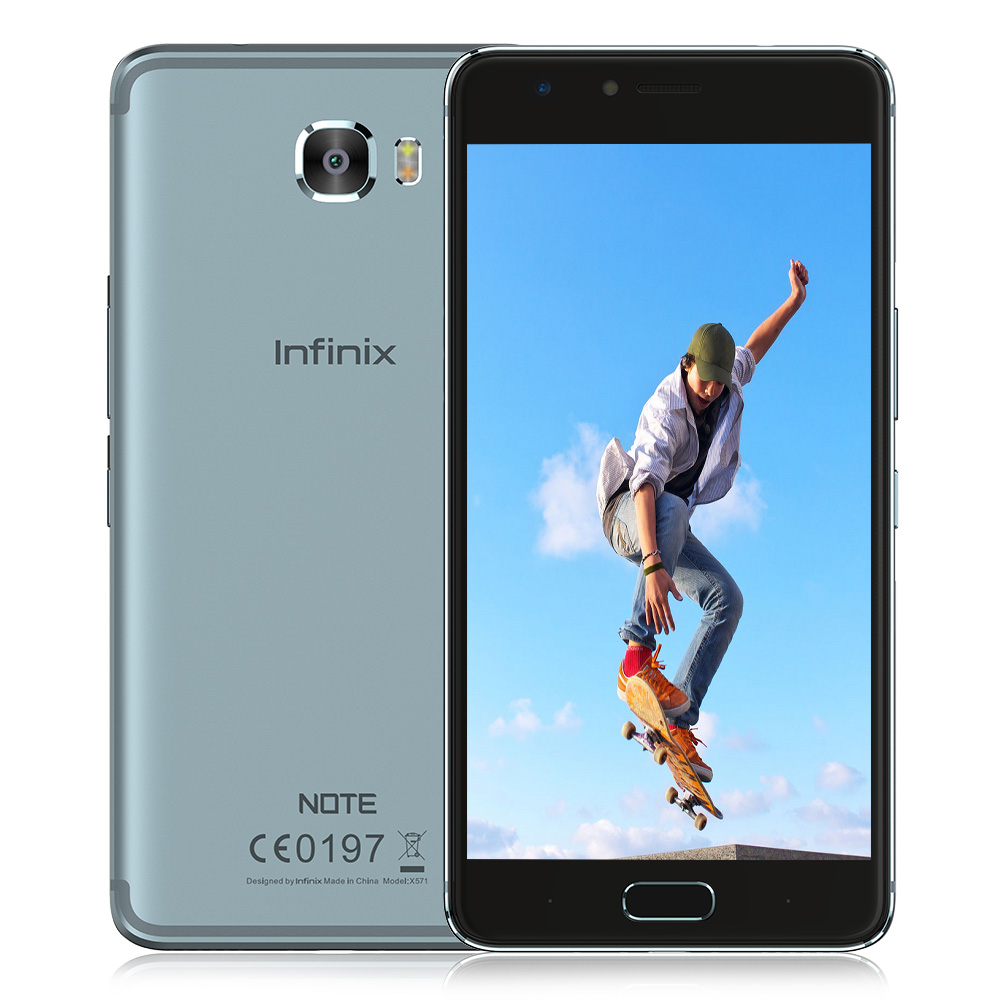 Infinix Note 4 Pro Smartphone Android 7.0X571 4G Phablet 5.7 pouce Mondial Version MTK6753 Octa Core 3 GB + 32 GB 13.0MP Arrière caméra