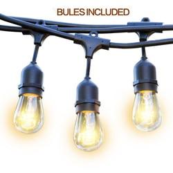 48FT Birnen Inbegriffen Wetterfeste Außen Lichterketten E26/E27 Kommerzielle Grade Schwere Strang Beleuchtung Mit US EU AU stecker