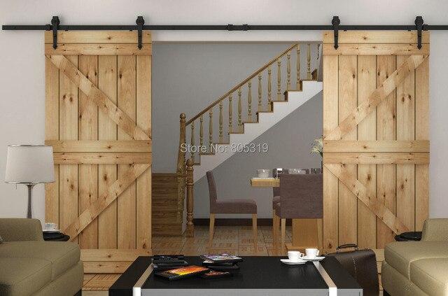 heavy duty doble corredera granero puerta corredera de madera granero hardware de la puerta