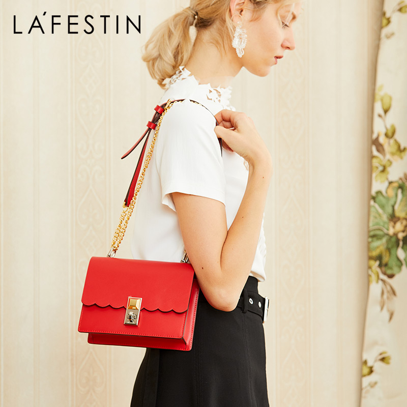 LA FESTIN bags for women 2019 new fashion shoulder crossbody bag Personality Chain small square bag