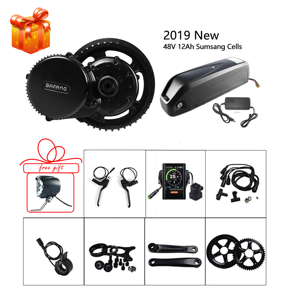 Bafang 48V 750W Mid Motor Ebike Conversion Kits SCP BMS System Lithium Battery 12Ah Samsung Cell E-bike Electric Bicycle BBS02B