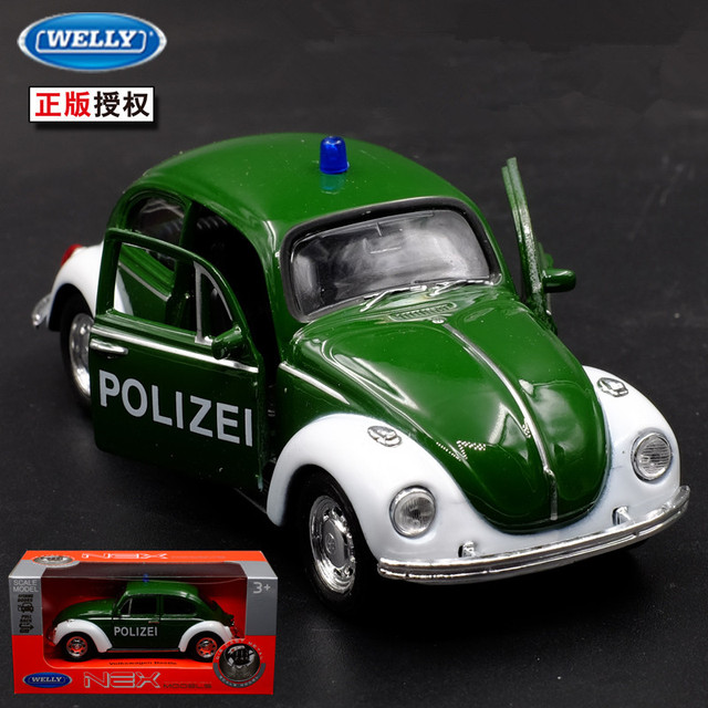 1 36 11 5 Cm Nieuwe Welly Beatles Politie Man Bubble Auto Patrol