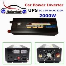 UPS Батарея 2000 Вт DC 12 В к AC 220 В автомобильной Мощность инвертор с Зарядное устройство Напряжение преобразователь 12 В до 220 В автомобиля Мощность инвертор