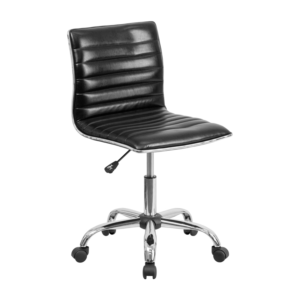 Flash Furniture Mid-Back Armless Black Ribbed Designer Task Chair [863-DS-512B-BK-GG] надувные игрушки balloon people ht 512b