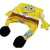 Novelty Hat Funny Can Dance Move Hands Children Men Women Squeeze Flip Gasbag Spongebob Cap Beanies