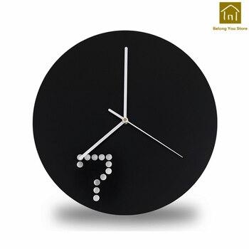 Creative Large Wall Clock  Home Decor Art Craft Wall Watch Circular Home Decor Ijzer Modern Clocks Decorative Tools WKP089