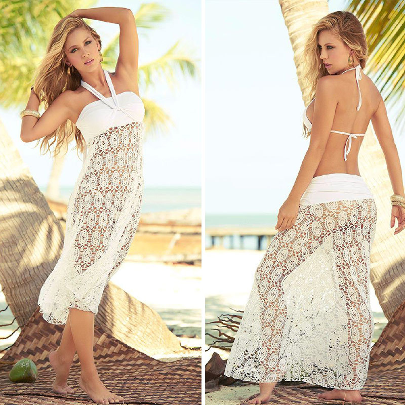Aliexpress Buy Crochet Long Beach Skirt Bikini Cover Ups