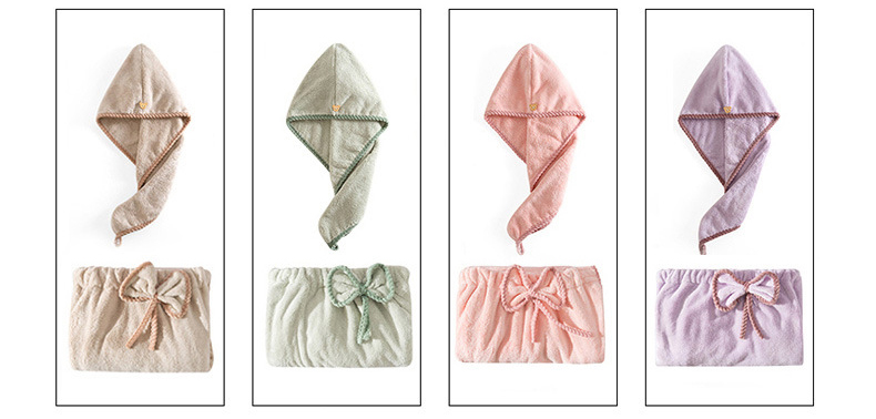 Women's Microfiber Bath & Hair Towels Set 7