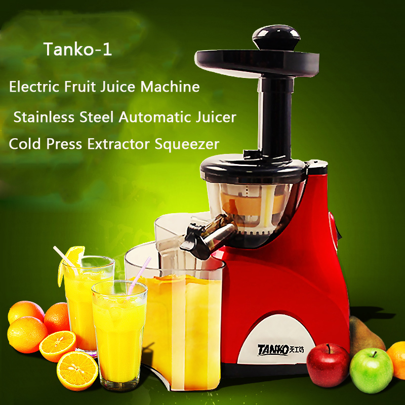 100% Original Slow Juicer Fruit Vegetable Citrus Low Speed Juice Extractor Fruit Squeezer Home use Electric Fruit Juice Machine whole slow juicer 300w 75 cm fruits low speed juice extractor juicers fruit machines