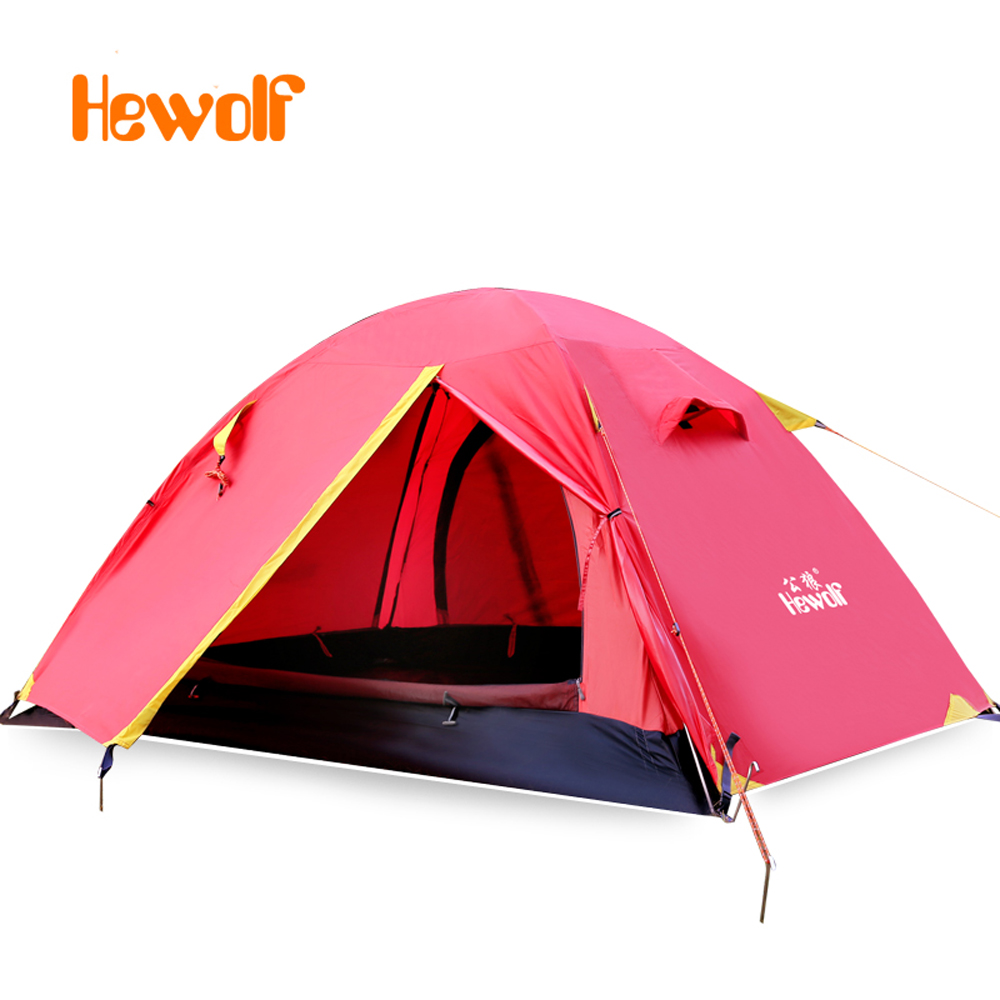 2 Person Aluminum Poles Double Outdoor Hiking Camping Tent Windproof Waterproof Double Layer Tent Ultralight Picnic tents