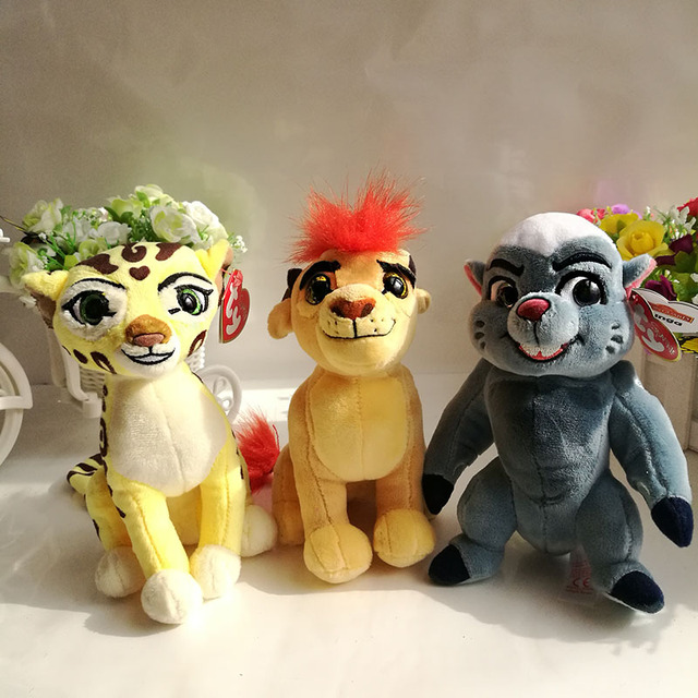 5fc5864b32d The Lion Guard Plush toy 15CM KION FULI cheetah BUNGA beshte hippo Ty  beanie babies Stuffed Animal children toy soft Hot Sale