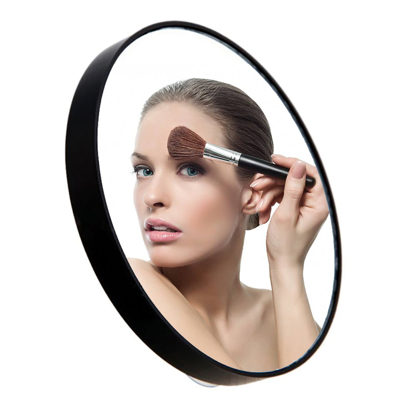 5X/10X/15X Makeup Vanity Mirror Pimples Pores Magnifying Mirror With Two Suction Cups Makeup Tools Round Hand Mirrors