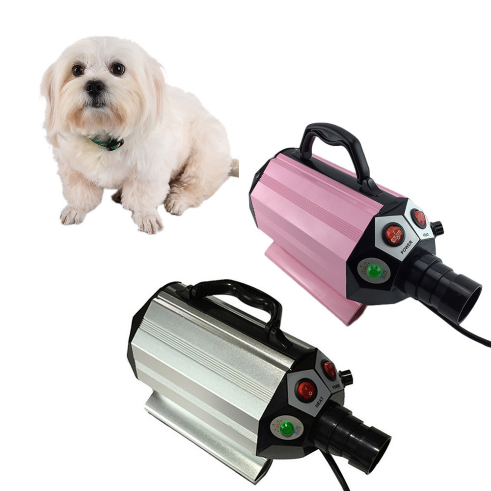 Voilamart High Velocity Adjustable Temperature Pet Dog Cat Fur Grooming Hair Dryer Hairdryer Dog Hair Dryer EU/US/UK pet dryer cat dog hair dryer anion 2800w 110 v 220 v variable speed puppy kitten hair dryer grooming tools eu au us uk plug