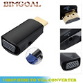1pc HDMI to VGA with Audio HDMI  Cable to VGA Adapter Male To Female 1080p HDMI to VGA Converter For PC HDTV Wholesale