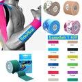 Qualidade 5 cm * 5 m rolo de algodão elástica adesiva kinesio tape Esportes lesão muscular tensão proteção fitas de primeiros socorros apoio bandagem