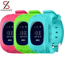 Free shipping mini baby child watch phone gps tracker for kids bracelet keychain with adroid ios