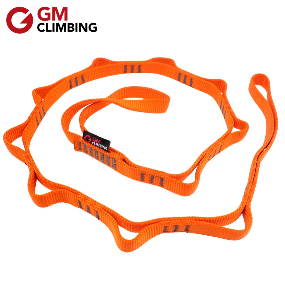 22kN 120cm Climbing Sling Nylon Daisy Chain Rope With Loops CE / UIAA Hammock Yoga Hanging Strap Mountaineering Equipment