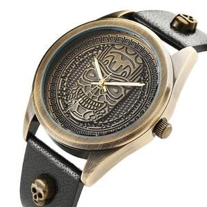 Image 4 - Men Watch Waterproof Leather Band Quartz Wrist Watch Punk Style Cross Zipper Wallet Christmas Gift Set For Husband for Dad
