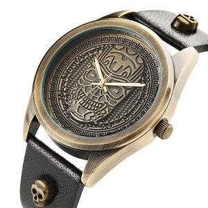 Image 4 - นาฬิกาผู้ชายกันน้ำนาฬิกาข้อมือควอตซ์ Punk สไตล์ซิปกระเป๋าสตางค์คริสต์มาสชุดของขวัญสำหรับสามีสำหรับพ่อ