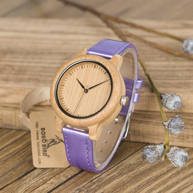 Women's Purple Leather Watch
