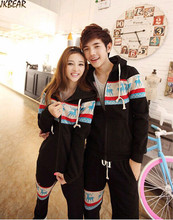 High-quality Matching Christmas Outfits for Couples Reindeer Print Plus Size Joggers Hoodie Set S-XXXL