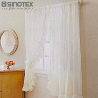 Window Curtain Purfle Decoration Sheer Curtain Valance For Kitchen Living Room Voile Screening Drape Panel With