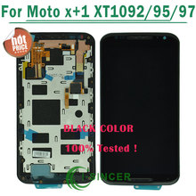 Black,White For Motorola For Moto X+1 X2 XT1092 XT1095 XT1097 LCD display Touch Screen Digitizer with Frame without Metal