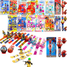 Kids Flip Cover Watch Building Blocks Toys for Children Compatible LegoIN NinjagoIN LegoING Marvel Avengers 4 Duplo Minecrafted(China)