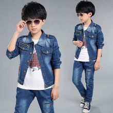 2019 Spring fashion children boy clothes sets 18M-5Y kids  child costumes coat + pant 2 pcs suits clothing