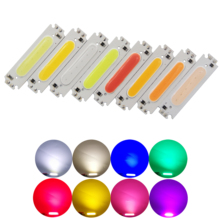 hot sale 60mm 15mm LED COB Strip Light Source chip moudle bulb 12V DC 2W 200LM FLIP Chip for DIY Car Lamp